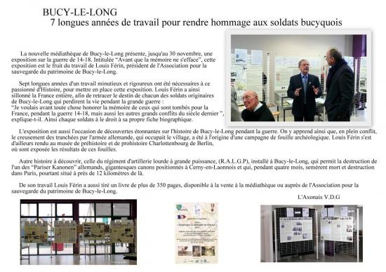 Article l'Axonais 2014